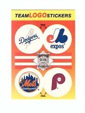 1991 Fleer Log Sticker 4 Teams per Card (Dodgers,Expos,Mets,Phillies)