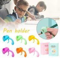 3PCS Kids Pencil Holder Pen Aid Grip Writing Posture Correction Device Tool