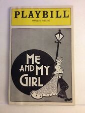 Playbill Me And My Girl at Marquis Theatre April 1988 Herb Foster Very Clean!