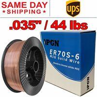 """ER70S-6 .035"""" (0.9 mm) Mild Steel MIG Welding Wire - 44 Lbs Roll"""