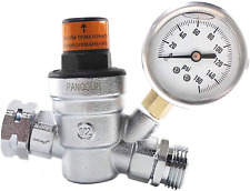 Pangolin Water Pressure Regulator Valve with 160 Psi Gauge and Inlet Stainless S