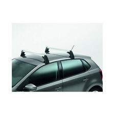 NEW Genuine VW Volkswagen Polo 2x Roof Rack Bar Set T-Groove Silver 6R0071126