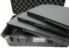Pelican 1535 Case with foam & 3 removable trays - Black & red tool control foam