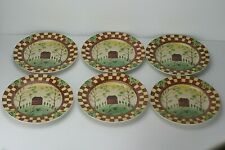 Thomson Stoneware Pottery Country Home Salad Dessert Plates Beth Vincent Stephen