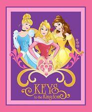 DISNEY PRINCESSES KEYS TO THE KINGDOM PANEL FABRIC CP58382