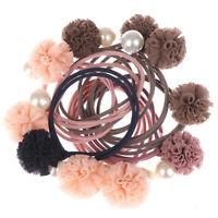 2pcs/ Set Belle boule perles filles accessoires de cheveux queue de cheval bWLFR