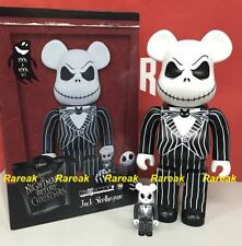 Medicom Be@rbrick Tim Burtons Jack Skellington 400% + 100% bearbrick set 2pcs