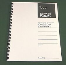 Icom ID-880/H Service Manual - Premium Card Stock Covers & 28 LB Paper!
