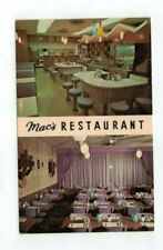 MN Rochester Minnesota vintage post card Mac's Restaurant