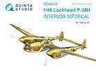 Quinta QD48122 1/48 P-38H 3D-Printed  coloured interior for Tamiya kit
