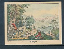 Handaquarellierte Künstlerkarte aus St.Gilgen    14/4/15