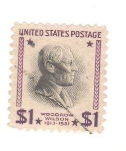 Scott 832 Early US Stamp $1 W. Wilson...1937-38...