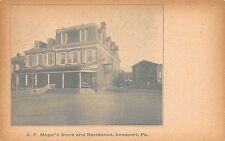 PA - 1900's A. F. Mogel's Store & Home in Leesport, Pennsylvania - Berks County