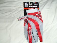 Brine Dynasty Lacrosse Women's Gloves Medium New Red and Grey