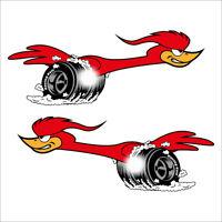 Set Speedbird Aufkleber Sticker Roadrunner Youngtimer Motorrad Tuning Retro V8