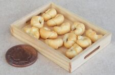 1:12 Scale 12 Croissants On A Wooden Tray Tumdee Dolls House Bakery Accessory