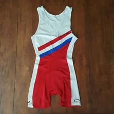 Vintage Paramount Medium Triathlon Suit Trisuit Skinsuit Red Cycling Swim M