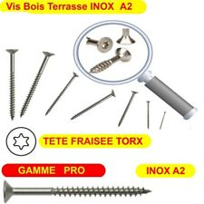 Vis Bois Ø 6mm Terrasse INOX A2 Torx 25 GAMME PRO