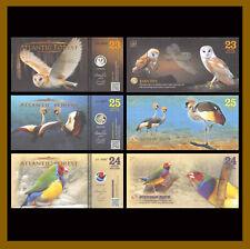 Atlantic Forest 23 24 25 Aves Dollars (3 Pcs Set), 2016 Owl Finch Crane