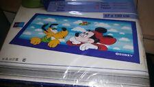 Vintage Walt Disney Rug Mickey And Pluto 67 x 120cm