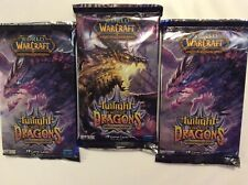 World Of warcraft TCG Twilight Of The Dragons 3 Booster Packs