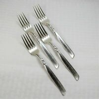(Set of 4) Oneida Silver (Community) South Seas (Silverplate, 1955) Forks