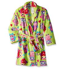 Komar Kids Girls Green Printed Fleece Robe Cover Up