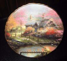 Thomas Kinkade Stepping Stone Cottage Romantic Hideaways Plate Coa