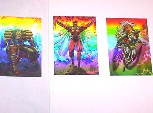 1993 X-MEN SERIES 2 HOLOGRAM Holithogram CHASE INSERT Set Cards #H1-H3! MAGNETO!