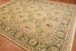 """8'10"""" x 11'10"""" Hand Knotted  Wool Traditional Oriental Area Rug full pile Gold"""
