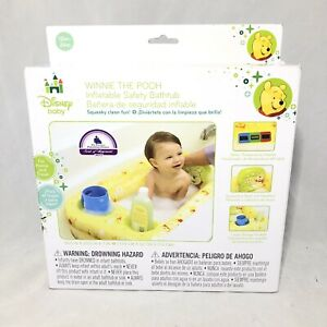 Baby Winnie The Pooh Blow Up Inflatable Safety Bathtub