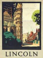 TRAVEL LINCOLN ENGLAND CATHEDRAL 30X40 CMS FINE ART PRINT POSTER BB9759