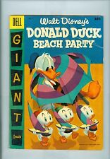 Dell Giant Donald Duck Beach Party #3 Fn- Strobl Murry Hubbard Uncle Scrooge