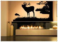 Wall Decal Room Sticker Bedroom elk animal horns nature beautiful tree bo2933