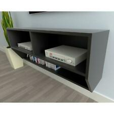 Black Floating TV Stand Wall Mount Entertainment Center Cabinet Living Room