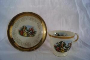Vintage Acapsco 23K Gold Tea Cup & Saucer Set
