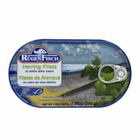 Rugen Fisch Herring Fillets in White Wine Sauce 200g 7.05oz Can Free Shipping!