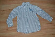 weiß blau gestreiftes Langarmhemd krempelbar Hemd langarm Esprit Gr. 116 122