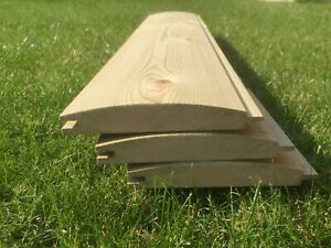 1m 22x125 Redwood Shiplap/LOGLAP timber DIY wood treated workshop cladding