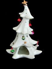 "Formailities Baum Bros Porcelain 11.5"" White Christmas Tree Votive Candle Holder"