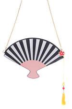 LB-58 Fan Clutch Geisha Kimono Pastel Goth Lolita Bag Harajuku Shoulder Bag