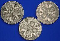 1928 1933 1936 George V Florins / Two shillings Higher grades [21975]