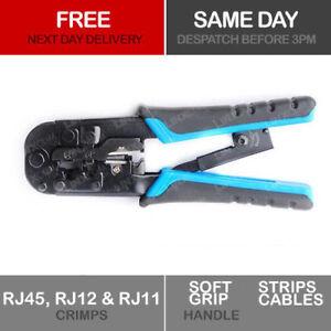 Copper Crimping Tool RJ45 Ratchet – LAN Cable CAT5 CAT6 RJ11, RJ12