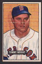 1951 Bowman #271 Thomas Tommy Tom Wright Boston Red Sox High # baseball card
