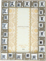 "Sheffield Home Splendid Jewel Frame, Crystal 4"" x 6"" or 6"" x 4"" , NIB, Free Ship"