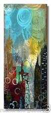 Abstract New York Cityscape Metal Wall Art Painting USA Made Home Decor