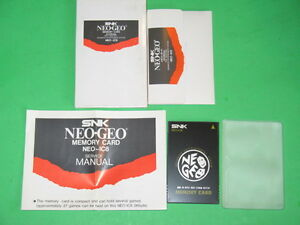 NOS (new old stock)  Neo Geo NEO-IC8 MEMORY CARD-Sleeve, card, manual, box!