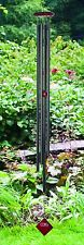 Woodstock Chimes of Saturn Black Wind Chime Long Tube Aluminum