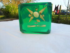 Vintage  Perspex - Lucite - Resin SEA SHELL  Paperweight  with Small Timer