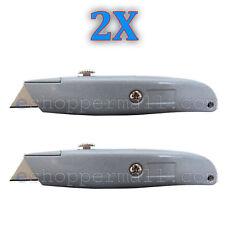 2X Heavy Duty Box Utility Cutter Knife Blade Retractable Razor w/Lock